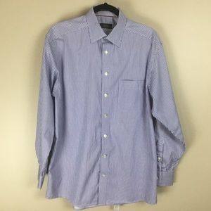 Eton mens Blue shirt 16.5
